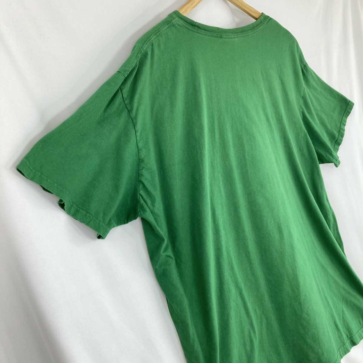 【人気カラー】ラルフローレン Tシャツ 刺繍ロゴ 緑 グリーン 古着 XXL_画像7