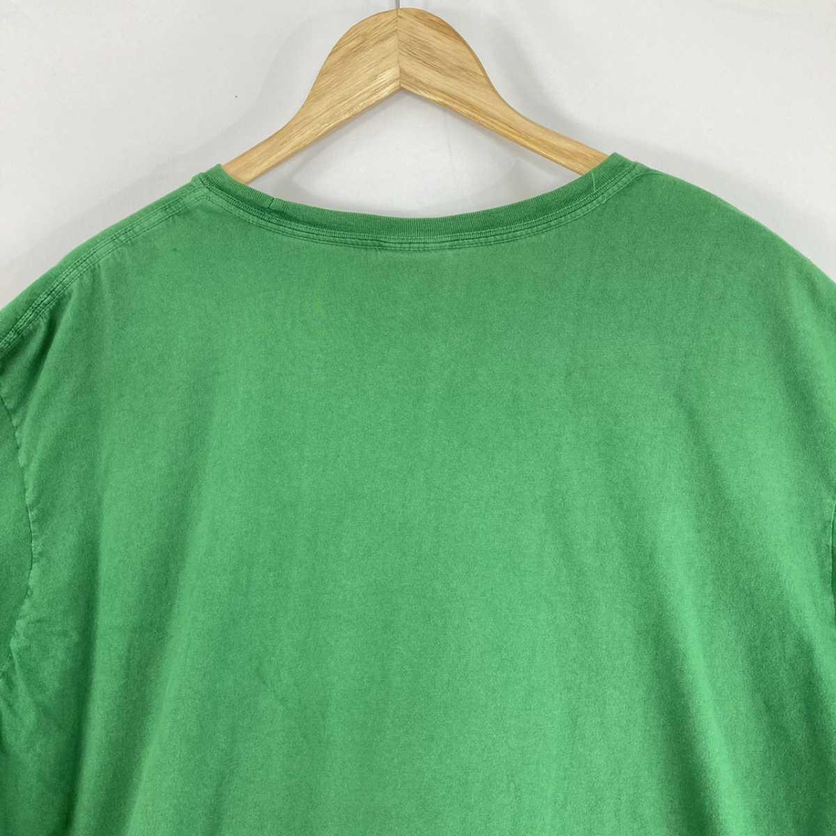 【人気カラー】ラルフローレン Tシャツ 刺繍ロゴ 緑 グリーン 古着 XXL_画像8