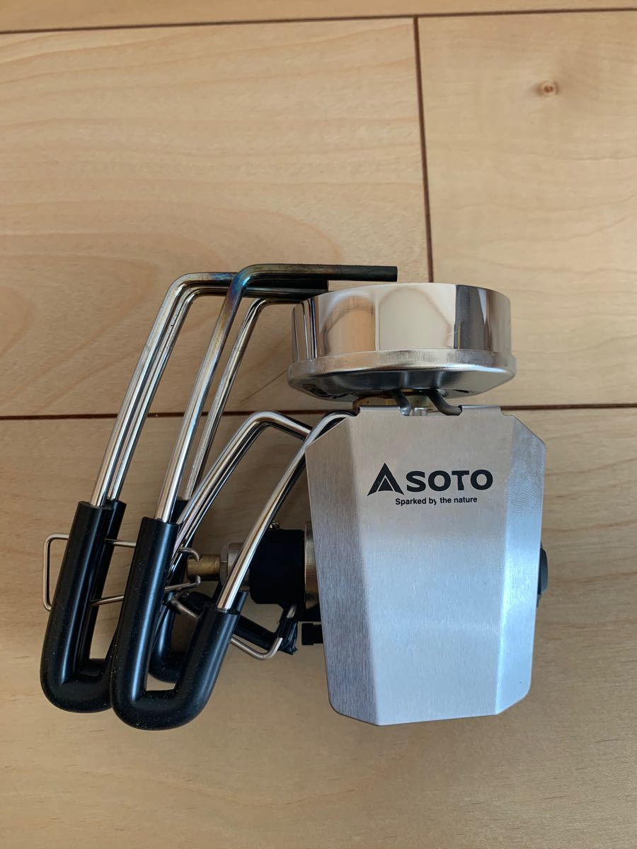 SOTO ST-310用 アシストレバー グリップ 風防 3点セット