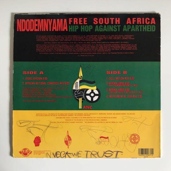 Hip-Hop Against Apartheid - Ndodemnyama (Free South Africa)【USオリジナル】【Jazzy Jay】
