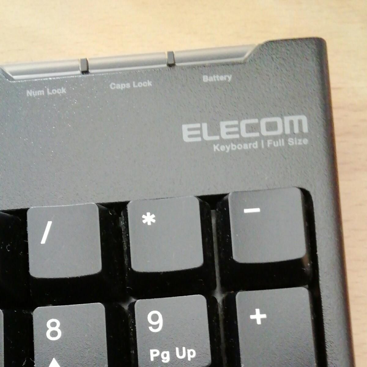 ELECOM TK-FDM063BK 2.4GHz ワイヤレスキーボード マウス無し