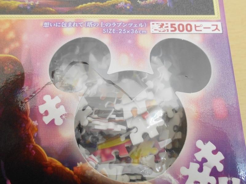 ホビー 未開封 パズル ディズニー ジグソーパズル 塔の上のラプンツェル ピュアホワイト 500ピース ※パッケージに痛みあり_画像3
