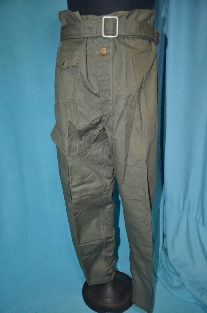 ☆16 陸軍綿地飛行服下衣 ベルト付き 未使用 昭和19年 ウエスト94センチ