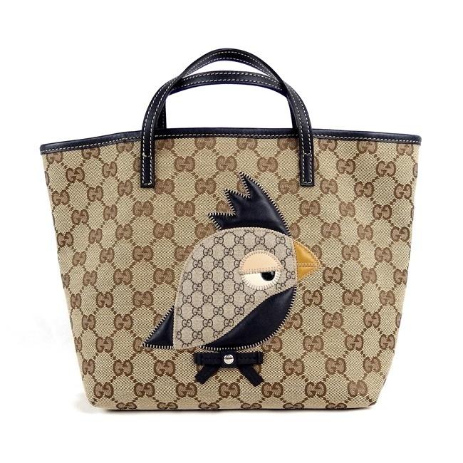 [Gucci] GG холст ★ Большая сумка Parrot [Бывшее в употреблении] / b10023013 Gucci и сумка, сумка и другие товары