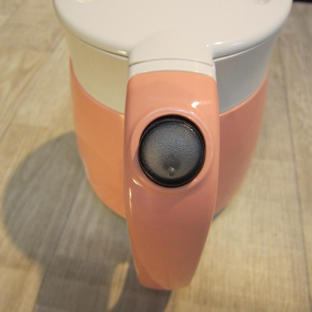 S1214【未使用】タイガー魔法瓶(TIGER) 電気ケトル わく子 800ml コーラルオレンジ PCF-G080-D