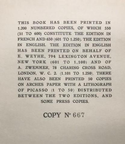 【特価】 ≪  パブロ・ピカソ  ≫  コロタイプ版画  PORTRAIT  1930年   PABLO PICASSO