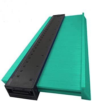 25cmグリーンを広げる 輪郭ゲージ 型取りゲージ コンターゲージ 測定ゲージ DIY複製用 プロフィイルゲージ 不規則測定器 _画像7