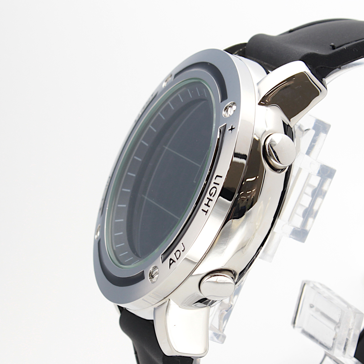 【1円開始】画面がでかくて見やすい!! 目に優しい腕時計! 今の腕時計が小さすぎて不満がある方必見!DWG WATCH メンズ 腕時計 / N0660_画像2