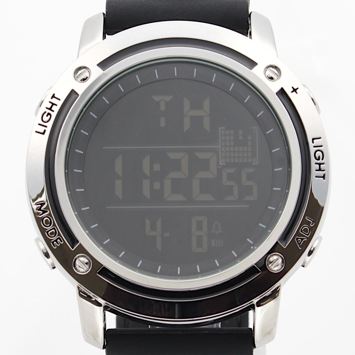 【1円開始】画面がでかくて見やすい!! 目に優しい腕時計! 今の腕時計が小さすぎて不満がある方必見!DWG WATCH メンズ 腕時計 / N0660_画像1