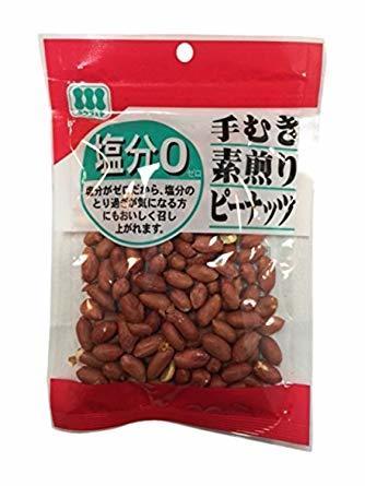 ●☆▲川越屋 手むき素煎りピーナッツ 105g×12袋_画像1