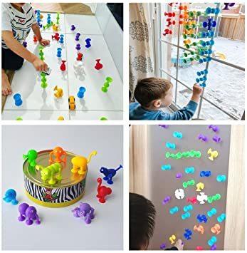 新感覚知育ブロック 101個セット 吸盤 おもちゃ 積み木 組み立て お風呂のおもちゃ 男の子 女の子 子供の誕生日 プレゼント_画像6
