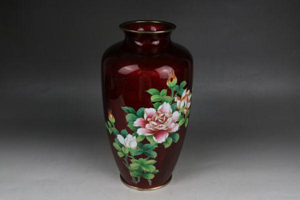 七宝焼 安藤七宝店花瓶 花入 花器 花柄