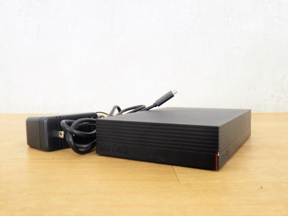 動作保証 BUFFALO バッファロー 外付けHDD HD-EDS4U3-BC アダプタ USBケーブル付き/D3-31051_画像1