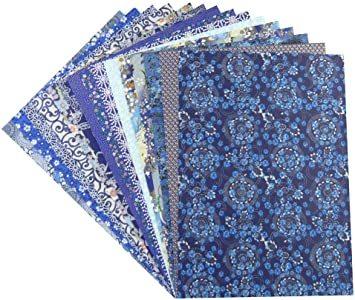 青色系 【Amazon.co.jp 限定】和紙かわ澄 千代紙 友禅和紙 B4 判 15柄・15枚入 青色系_画像2
