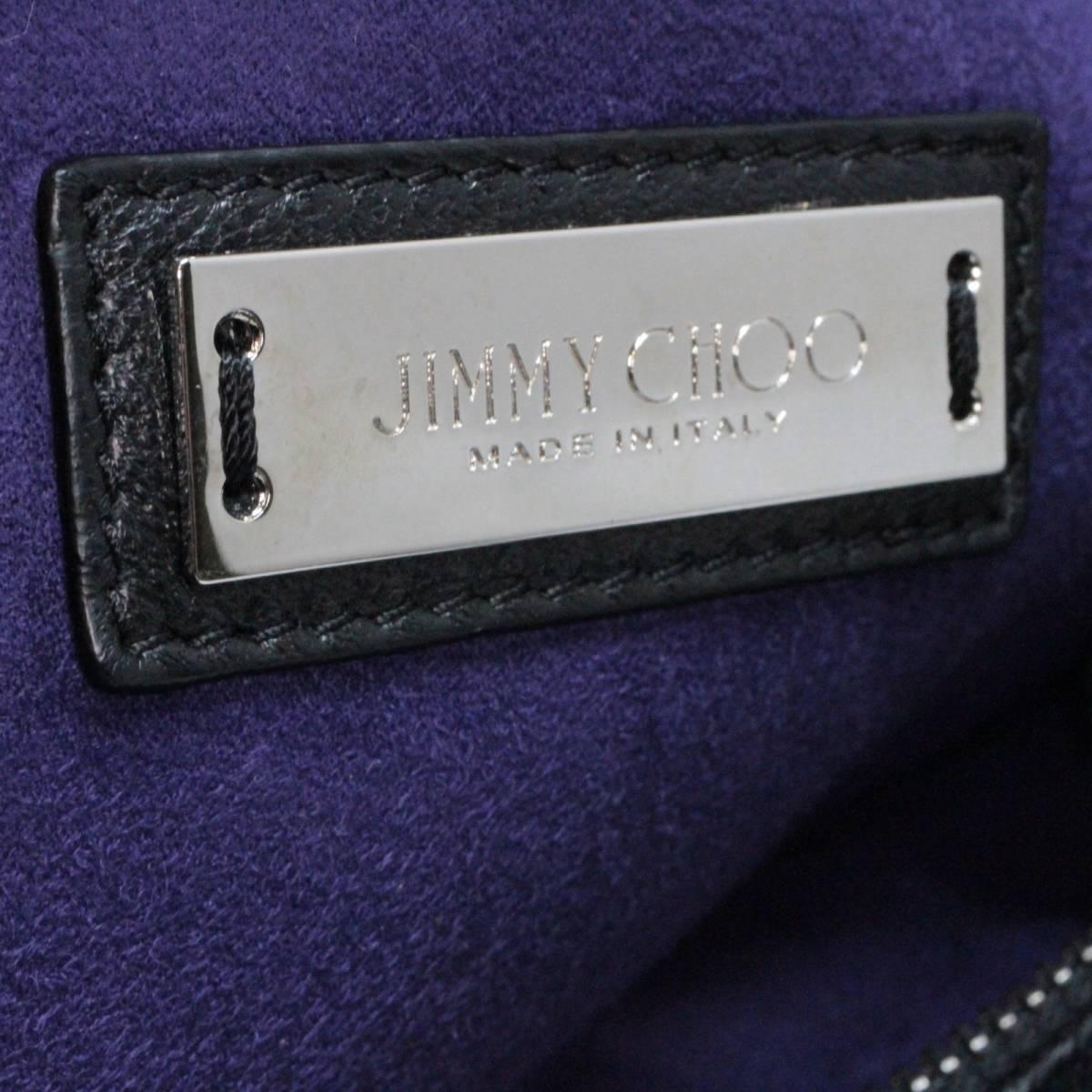 ◆◇【美品】JIMMY CHOO ジミーチュウ ミニサラ クリスタルスター 2Way ショルダーバック◇◆_画像9