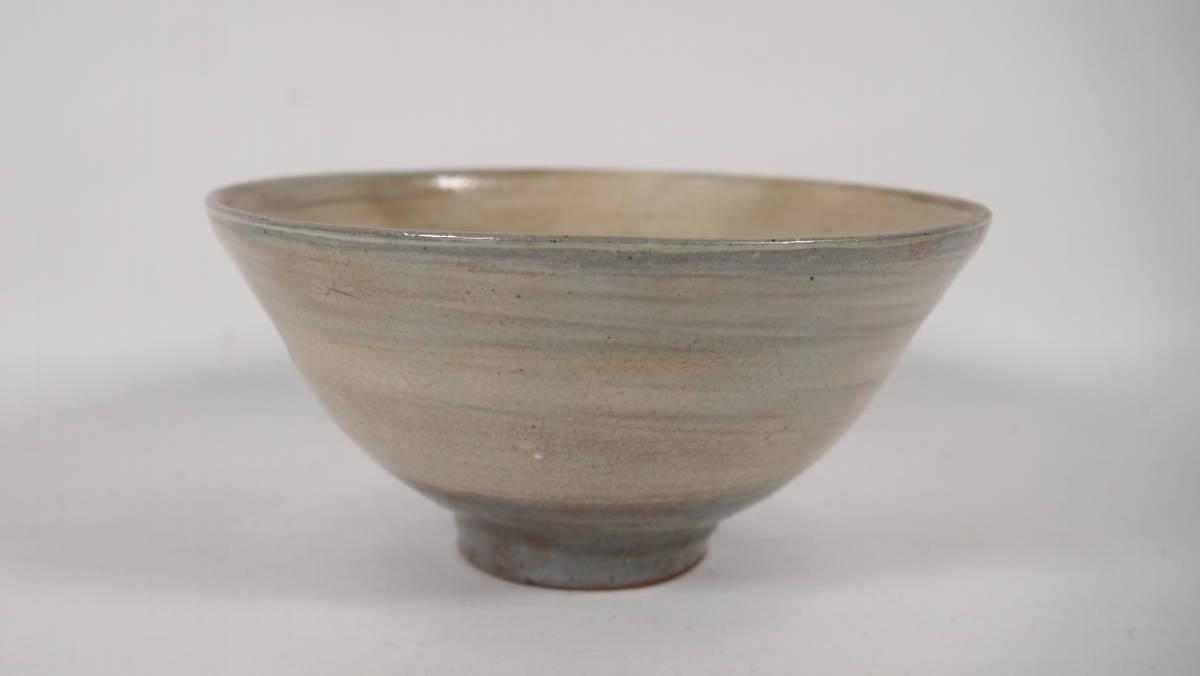 京焼  粉引風鉄釉絵 抹茶茶碗 在銘  茶道具  21428ー11-2_画像2