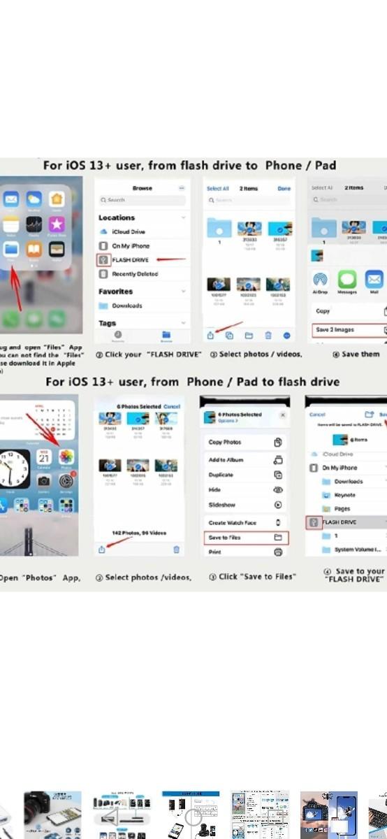 iPhone/iPad用 SD カードリーダー 3in1 USB OTGカメラアダプタ 双方向データ転送 SD TF USB