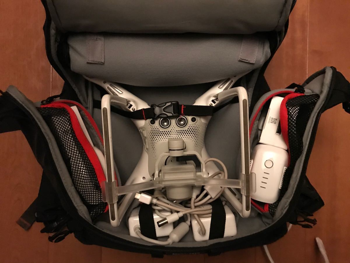 DJI Phantom4 機材一式 予備バッテリー マンフロット専用カバン付き
