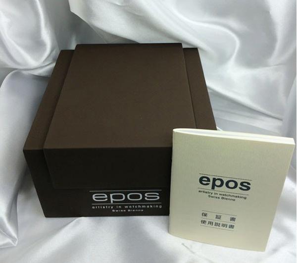 送料・代引手数料無料 ユーロパッション正規2年保証 エポス EPOS メンズウォッチ パイロットウオッチ3401ABKM ETAムーブメント搭載_画像5