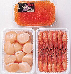 いくら・帆立・えびセット 送料無料!美味しいイクラ、甘エビと新鮮なほたてを急速冷凍。刺身としてお楽しみいただけます_画像4