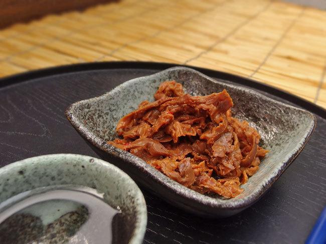 ほたて明太味(ホタテの貝ひもとタラコをピリリと辛く仕上げました)帆立貝ヒモの佃煮 辛子明太子のおつまみ めんたいの煮物 たらこ入り珍味_画像8