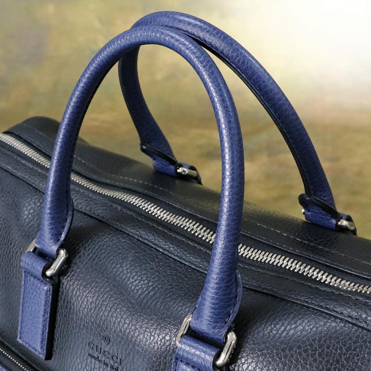 本物 極上品 グッチ 最高級トリヨンレザー コスモポリス 2WAYメンズビジネスバッグ A4書類ブリーフケース トートバッグ 袋 冊子付 GUCCI_画像5