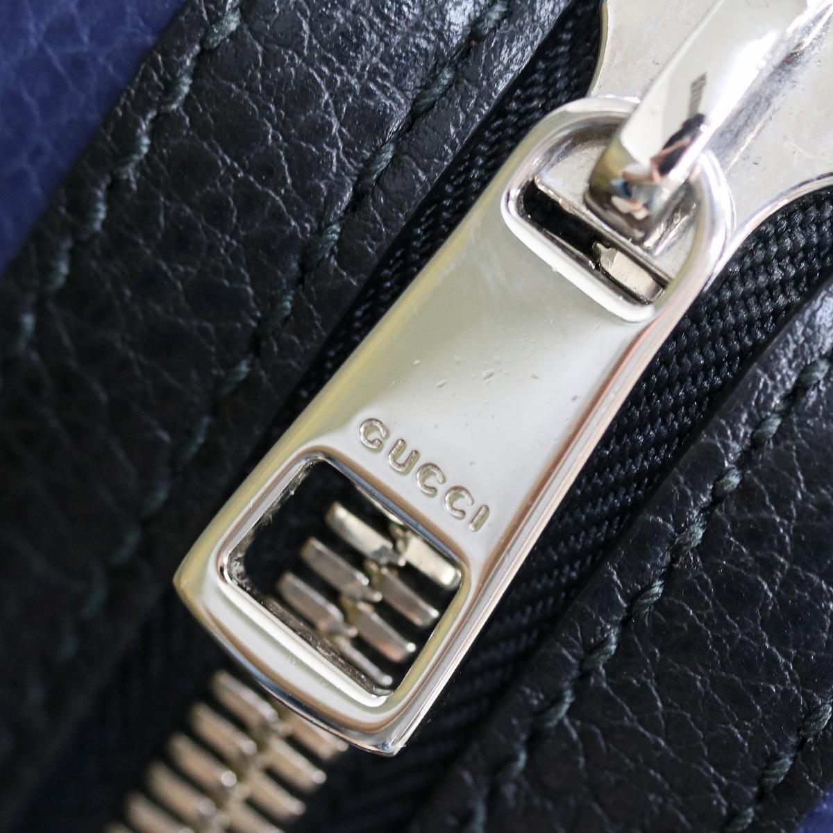 本物 極上品 グッチ 最高級トリヨンレザー コスモポリス 2WAYメンズビジネスバッグ A4書類ブリーフケース トートバッグ 袋 冊子付 GUCCI_画像6