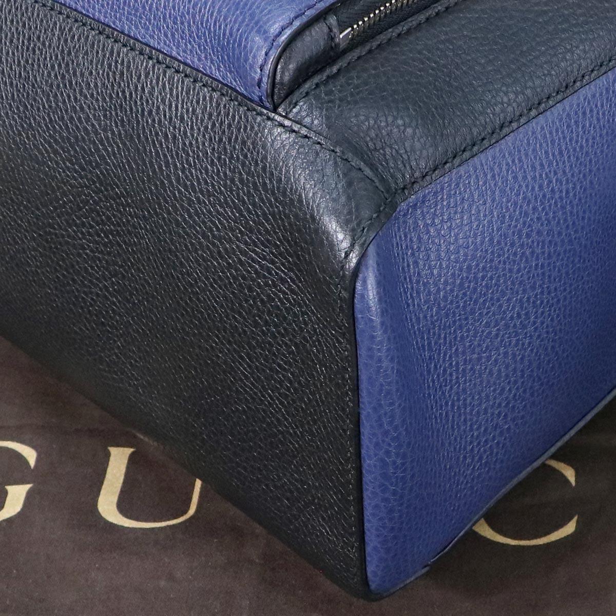 本物 極上品 グッチ 最高級トリヨンレザー コスモポリス 2WAYメンズビジネスバッグ A4書類ブリーフケース トートバッグ 袋 冊子付 GUCCI_画像7
