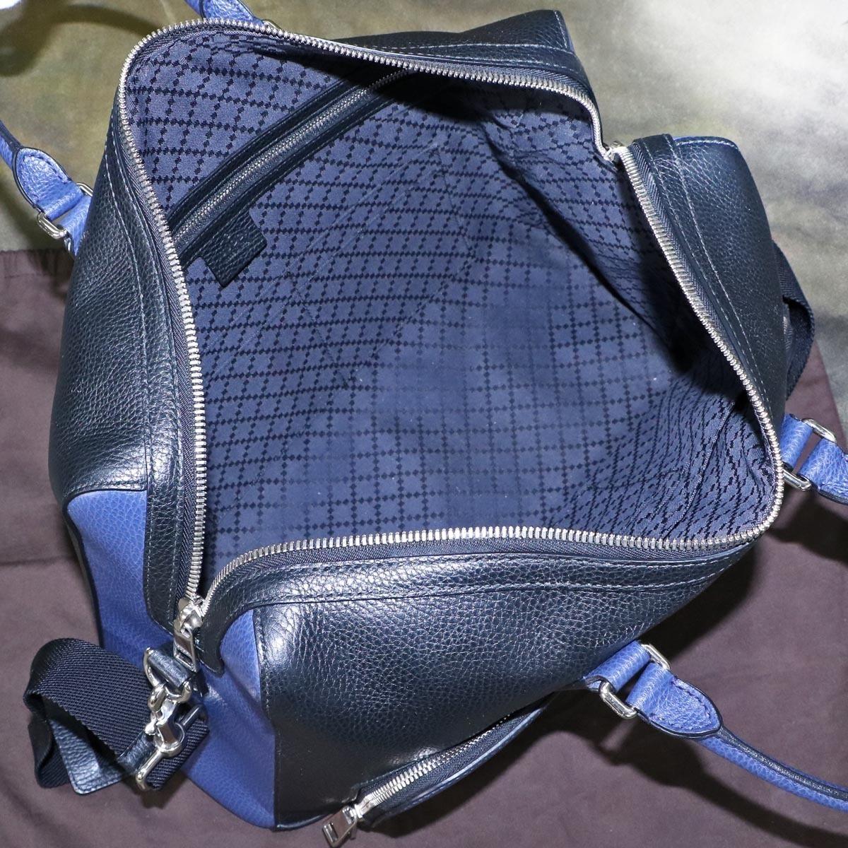 本物 極上品 グッチ 最高級トリヨンレザー コスモポリス 2WAYメンズビジネスバッグ A4書類ブリーフケース トートバッグ 袋 冊子付 GUCCI_画像8
