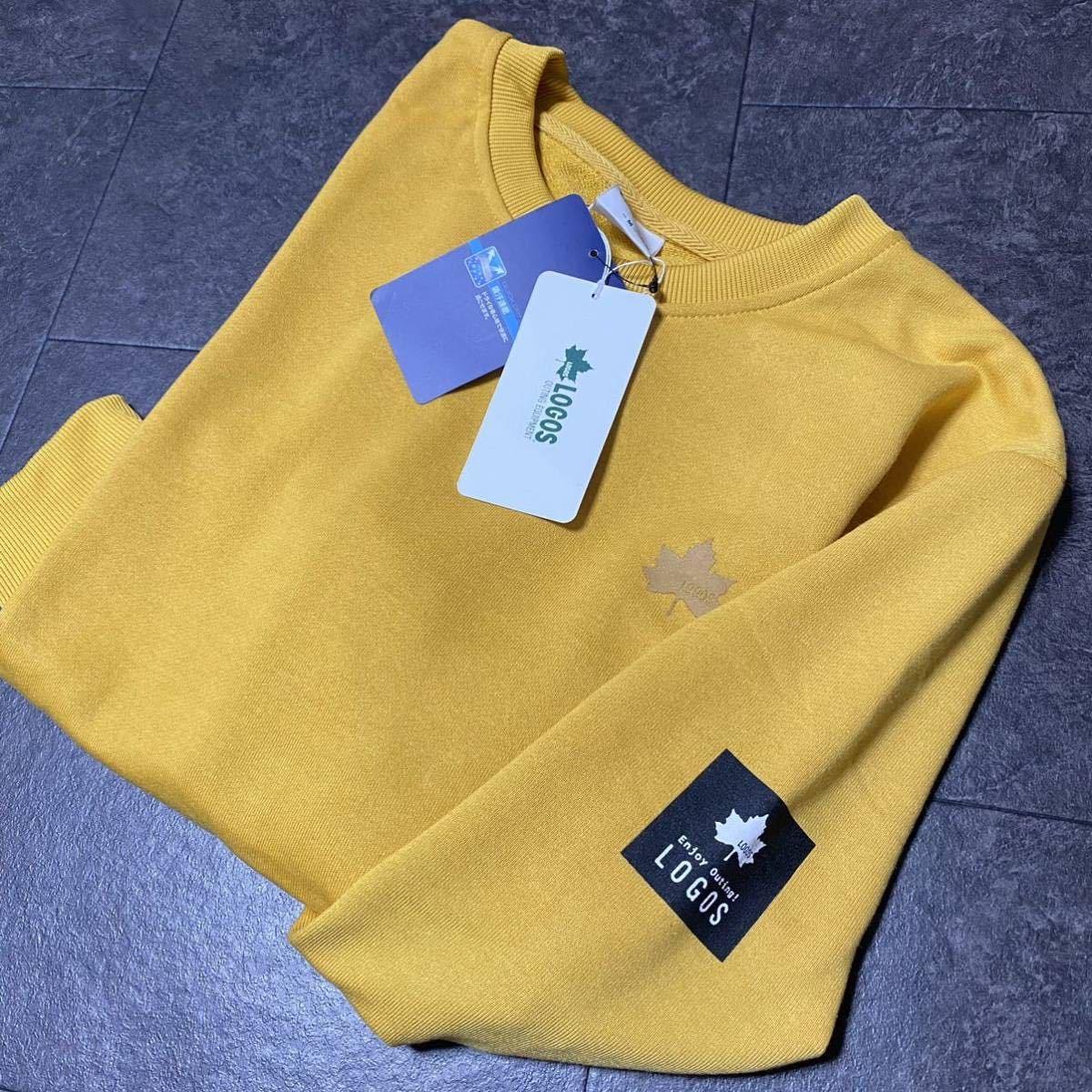 1円 Mサイズ 新品 LOGOS ロゴス 袖ビッグロゴ トレーナー 長袖シャツ 吸水速乾 アウトド
