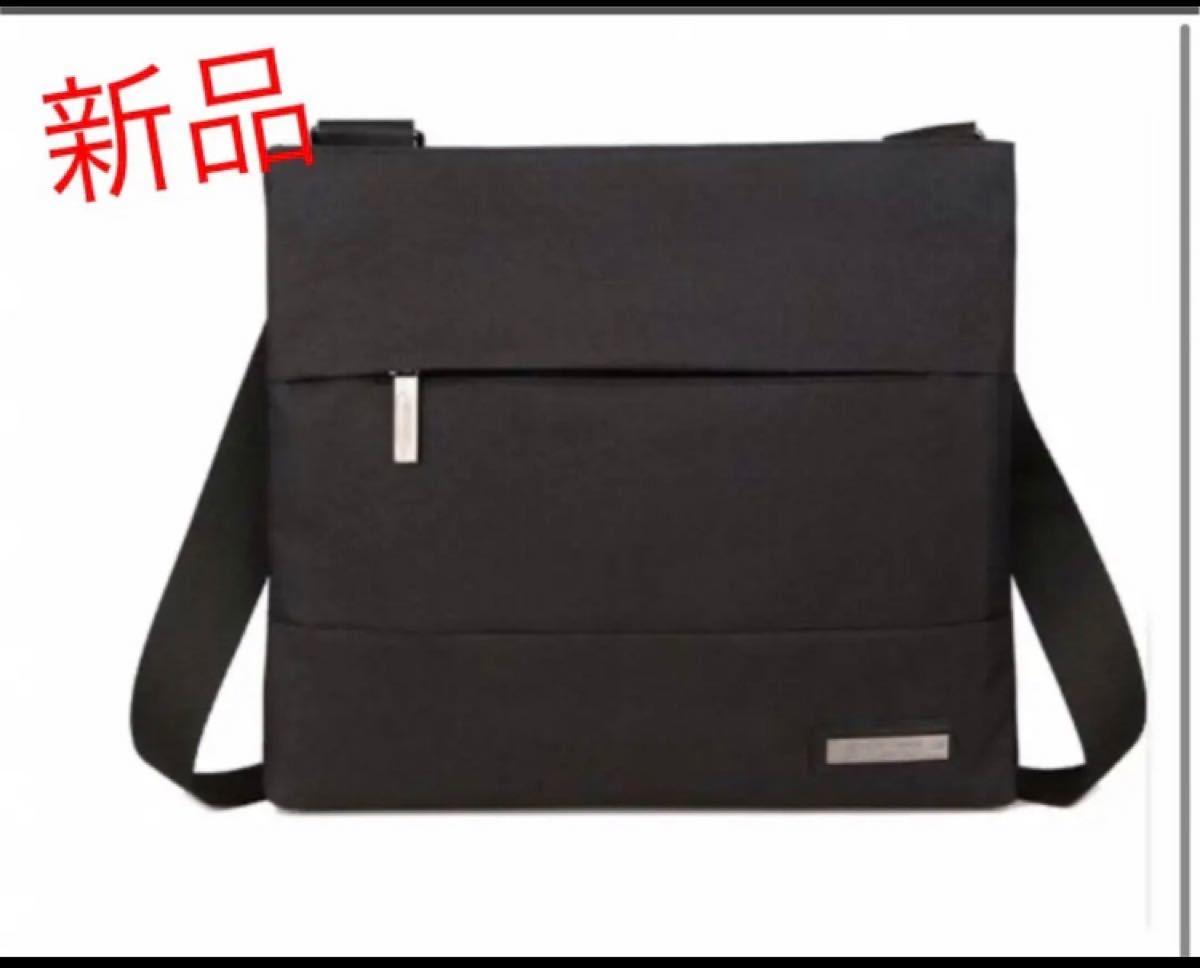 メンズバッグ   ショルダーバッグ  ビジネスバッグ ブラック   iPad メッセンジャーバッグ 斜め掛けバッグ 黒