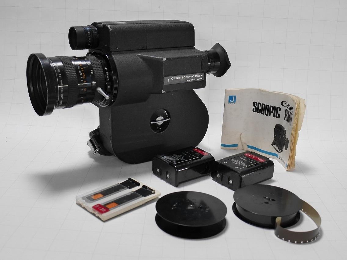 キヤノン スクーピック16MN 16ミリシネカメラ Canon Scoopic 16MN 動作未確認 中古現状渡し 純正ケースつき