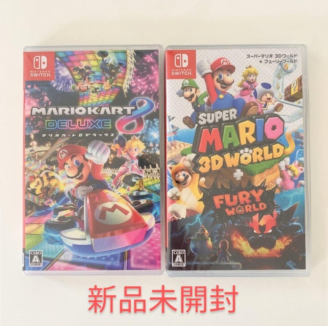 新品未開封 マリオカート8デラックス スーパーマリオ 3Dワールド + フューリーワールド  Nintendo Switch
