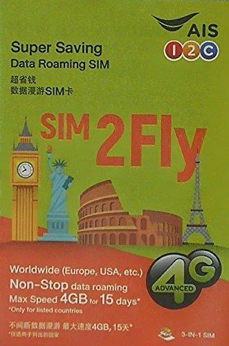 AIS データ通信 プリペイドSIMカード 15日 4G/3G_画像1