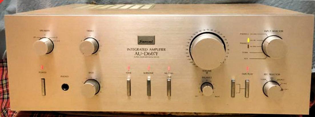 【とっても奇麗】サンスイの至宝 意気込みあふれる名器 AU-D607F ¥76,000(1980年発売) 奇跡的に未使用!