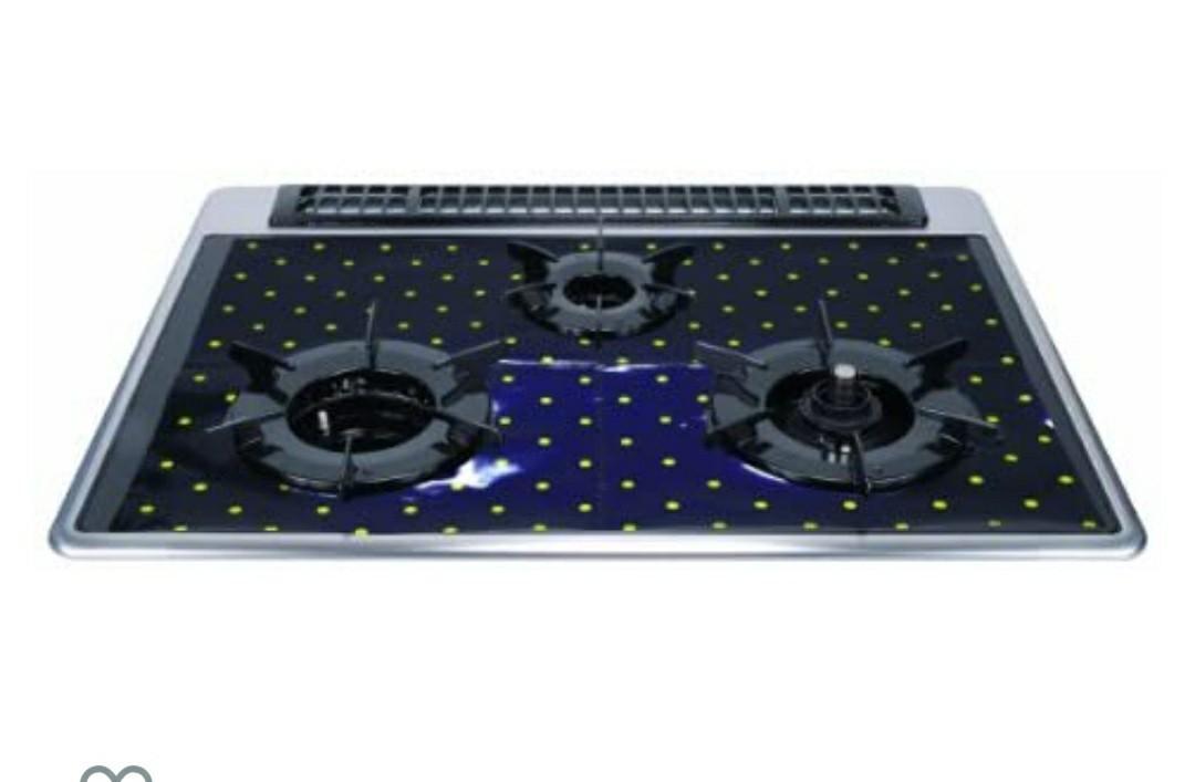 ガスコンロ3口用 汚れ防止マット ネイビーブルー フラットレンジマット幅60cm 10枚入