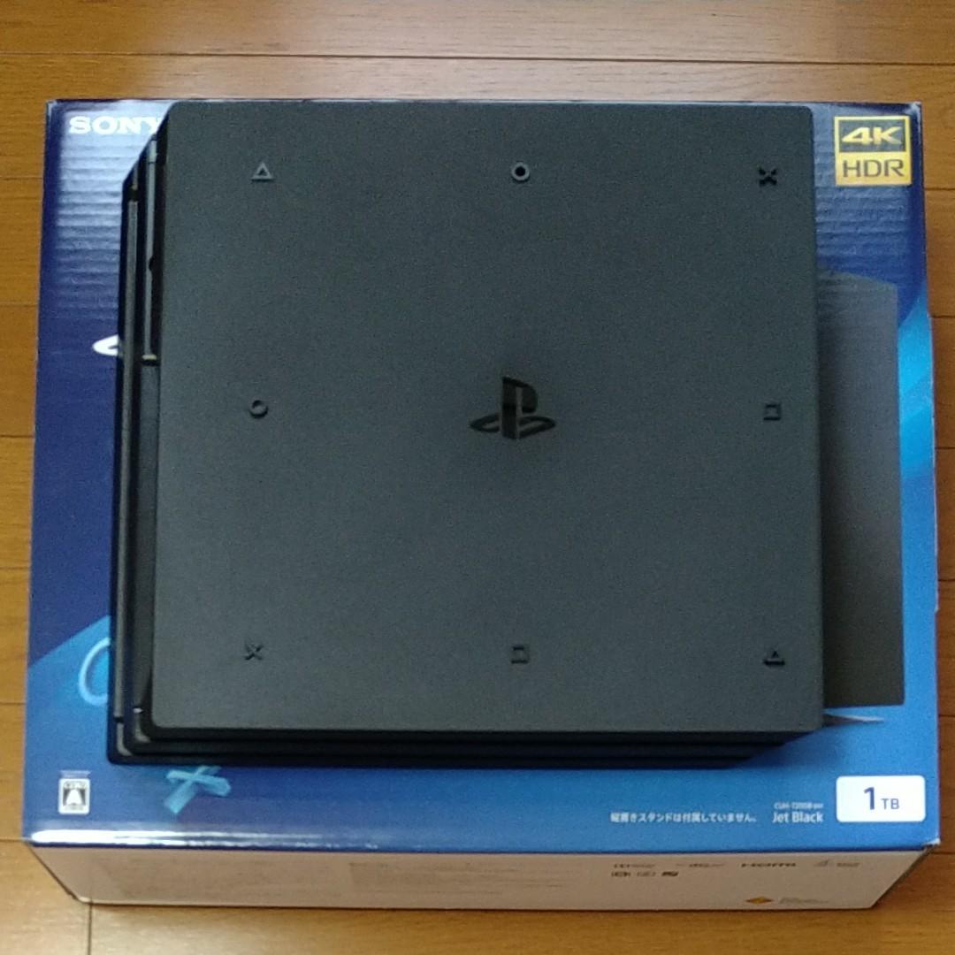 PS4 Pro 本体 CUH-7200B 1TB コントローラー未使用 PS4版ドラゴンクエストヒーローズ2付き