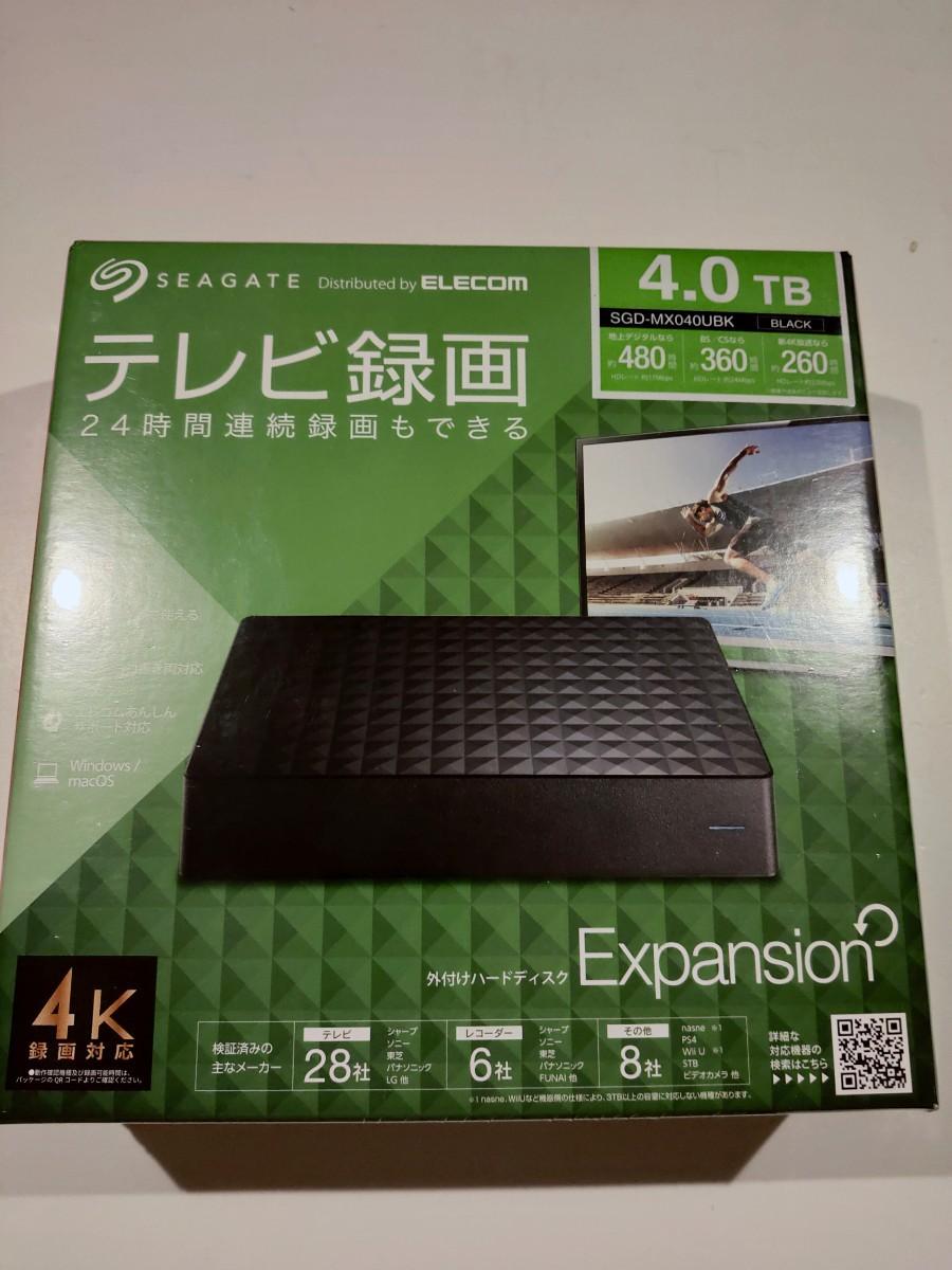 Seagate 外付けハードディスク 4.0TB