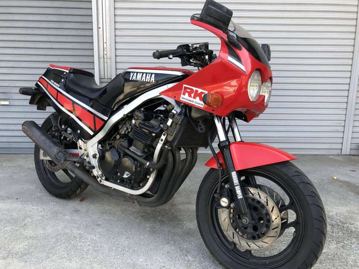 「 赤/黒色 FZ400R 書類、鍵付き レストアorフルレストアベース」の画像1