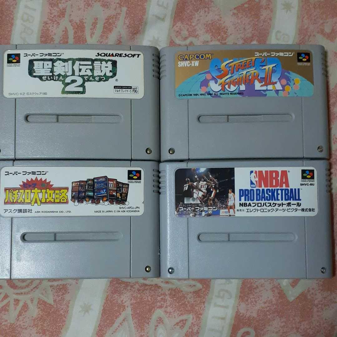 スーパーファミコンソフト セット スーパーストリートファイターⅡ 聖剣伝説2 他計4本 まとめ