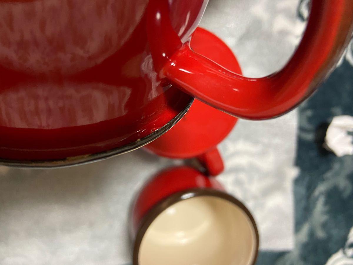 未使用 ホーロー カップ B品 マグカップ 琺瑯 ハンツマン HUNTSMANS レトロ キャンプ アウトドア BBQ 4点