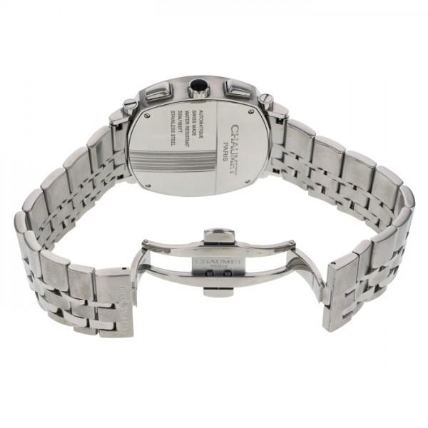 ショーメ CHAUMET ダンディ クロノグラフ W11690-30B シルバー文字盤 中古 腕時計 メンズ_画像6