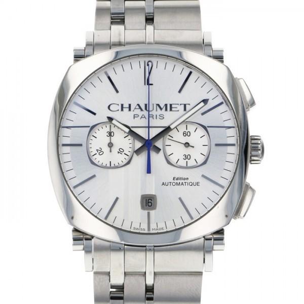 ショーメ CHAUMET ダンディ クロノグラフ W11690-30B シルバー文字盤 中古 腕時計 メンズ_画像1