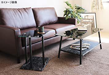 高級感 ガラス サイドテーブル 大理石柄 ソファサイド ベッドサイドテーブル コの字型 高さ調整可 ナイトテーブル リビング_画像8