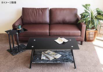 高級感 ガラス サイドテーブル 大理石柄 ソファサイド ベッドサイドテーブル コの字型 高さ調整可 ナイトテーブル リビング_画像9