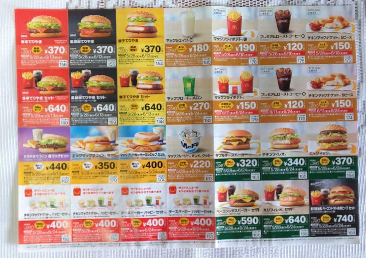 マクドナルド★クーポン5枚セット☆割引券☆マック①_画像2