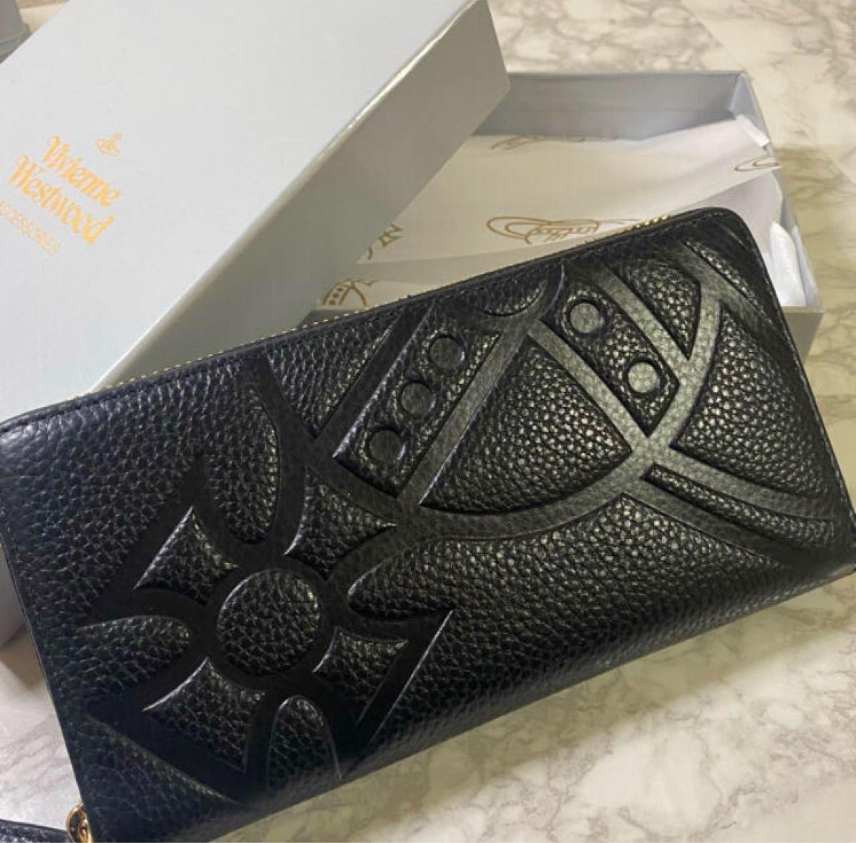 ヴィヴィアンウエストウッド Vivienne Westwood 新品未使用 長財布 ブラック 黒 模様  小銭入れ