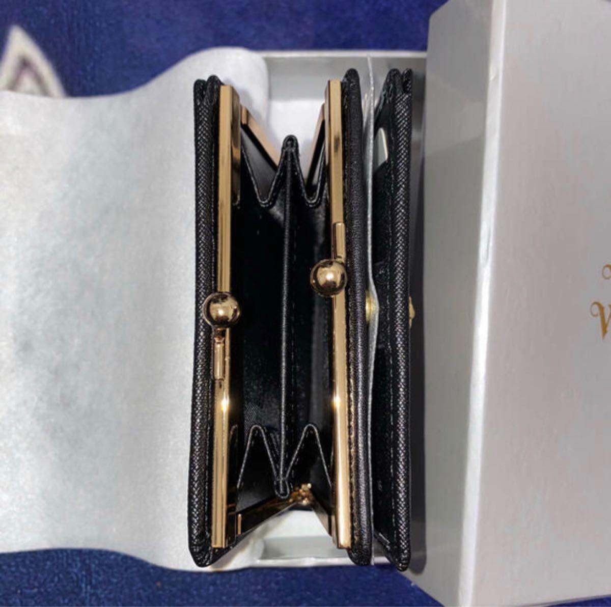 ヴィヴィアンウエストウッド 新品未使用 財布 二つ折り財布 vivienne westwood がま口 黒 小銭入れ がま口財布