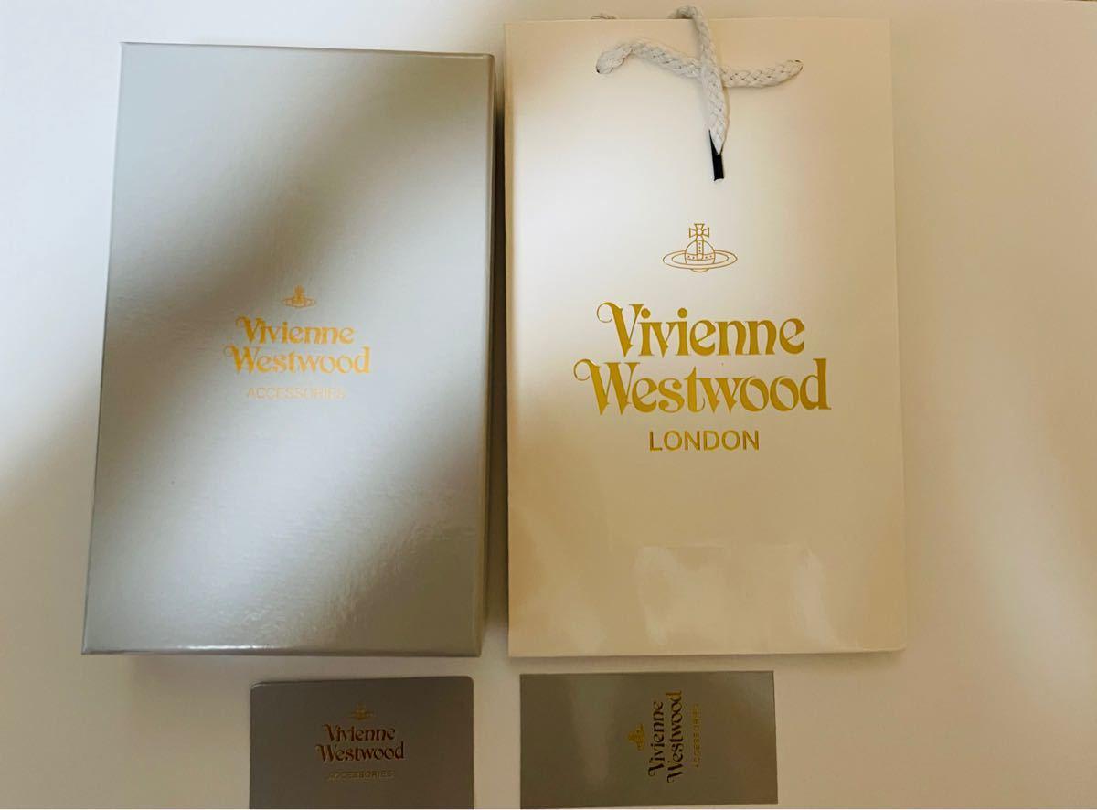 Vivienne Westwood ヴィヴィアンウエストウッド 新品未使用 黒 エナメル オレンジ 長財布 ラウンドファスナー