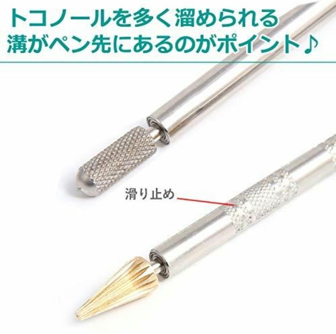 レザークラフト コバ塗り ペン型 工具 2点セット 革のコバ処理用のワックス塗りに便利なコバ塗りペン